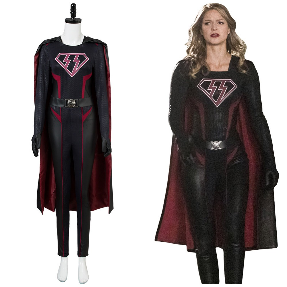 Precise Supergirl Overgirl Kara Zor-el Danvers Cosplay Costume Jumpsuit Novelty & Special Use Anime Costumes cape Outfit Full Set Elegant And Sturdy Package