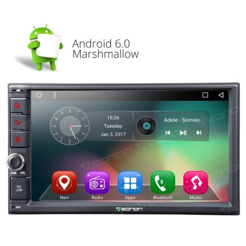 ga2162 double din 7 head unit android 6 0 os car stereo. Black Bedroom Furniture Sets. Home Design Ideas