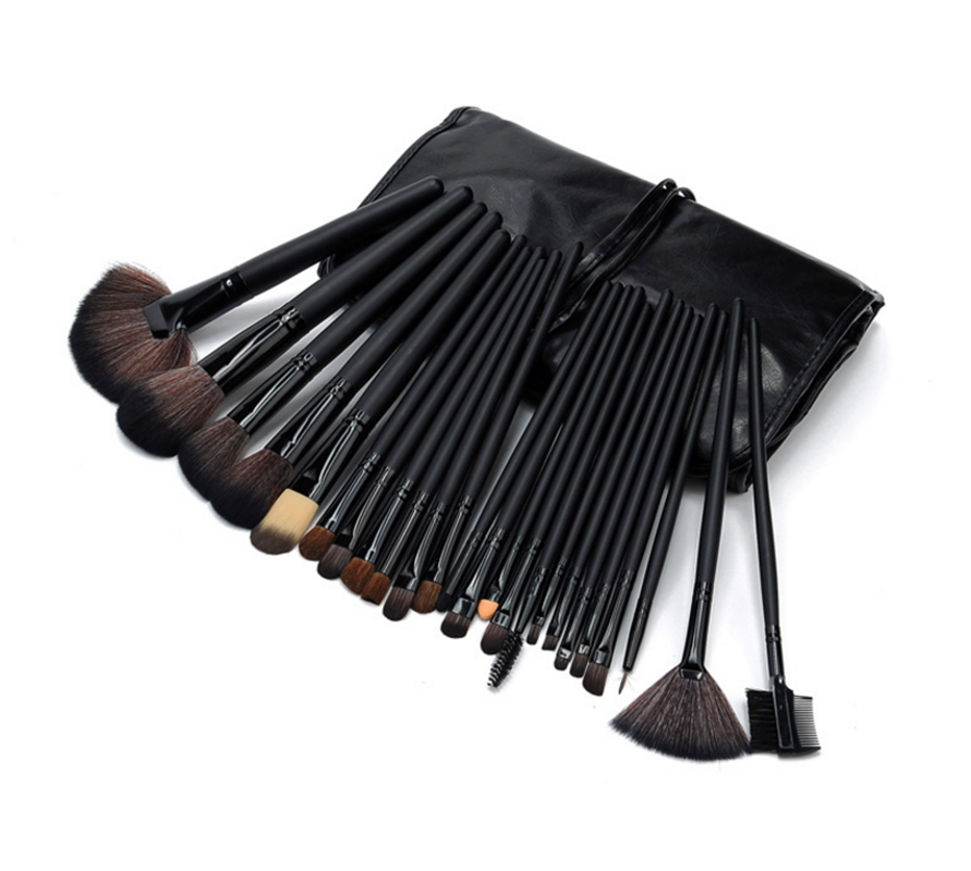 Professional 24 pcs/set Makeup Brushes Set tools Make-up Toiletry Kit Wool Brand Make Up goat hair Brush Set pinceaux maquillage kicute sketch floral flower canvas roll up pencil case 36 48 72 hole large capacity pen brush holder storage pouch school supply