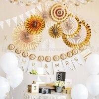 2018 Neujahr dekorationen geburtstag ornamente anhänger mall fenster hochzeit papier fan blume