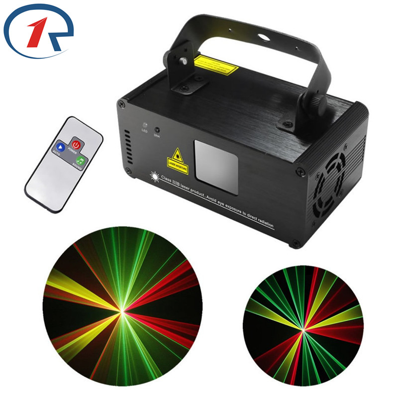 ZjRight IR Remote Red Green Yellow Laser Stage Light DMX512 Scanner beam lamp dj music concert party dynamic Bar KTV disco light