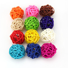 20PCS/Lot 3CM Can Mix 12 Colors Rattan Ball Wedding Decorative Birthday Party Decoration,Decor Home Ornament Party Supplies