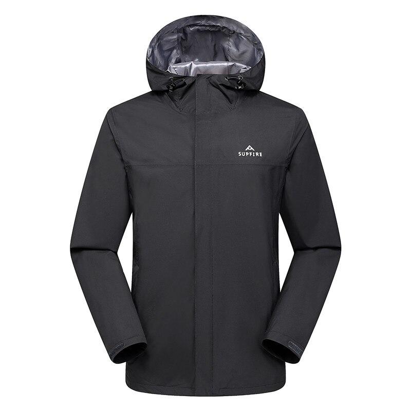 Supfire veste de randonnée hommes chasse cyclisme coupe-vent mâle pêche vêtements tactiques séchage rapide imperméable sport manteau C031 - 6