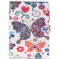 Colofrul Pattern Colorful Butterfly Card Slot Wallet PU Leather Stand Flip Case Cover For IPad5 Air