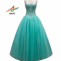 ANTI Luxury Mint Green Quinceanera Dresses 2018 Sleeveless Sweetheart Tulle Ball Gowns For 15 Years Sweet 16 Princess HQY022