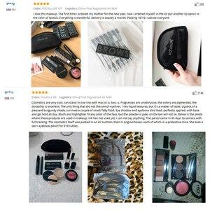 Image 5 - FOCALLURE Kit doutils de maquillage professionnel, 8 pièces, pour fard à paupières, rouge à lèvres, Blush, poudre pour le visage, Eyeliner avec pochette de maquillage