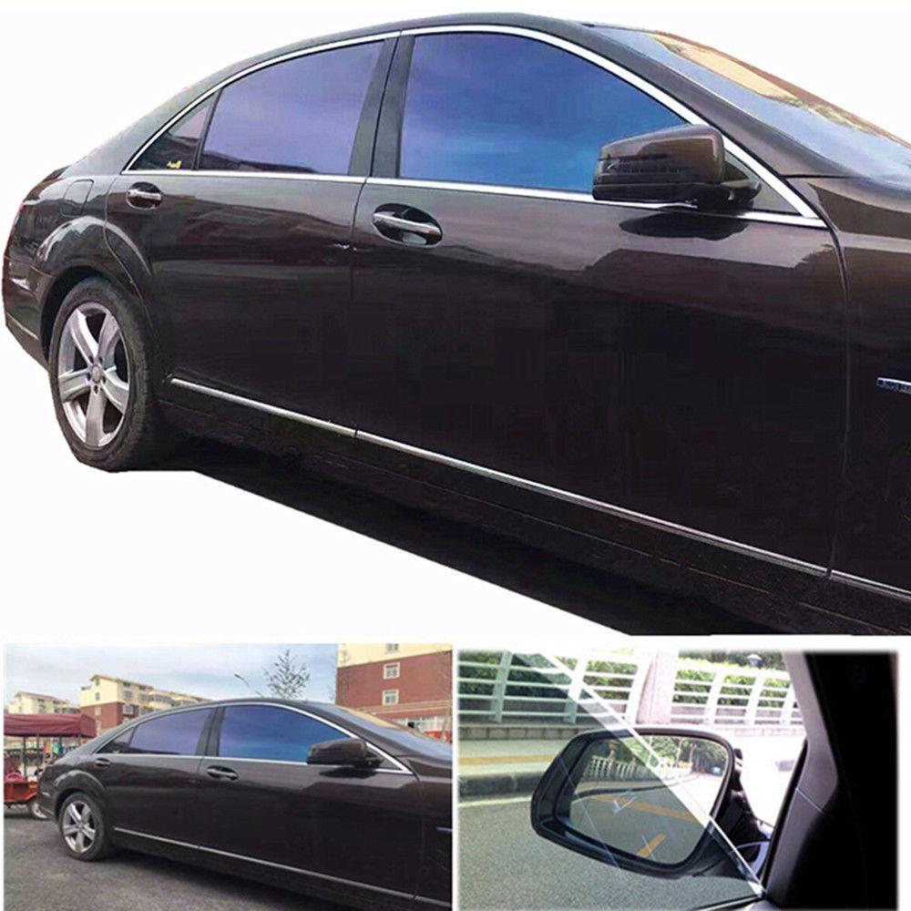 SUNICE Window Sticker Solar Tint VLT15% Car Windshield Window Film Chameleon Tint Self Adheisve Decals UV Proof 0.9m x 1.5m|Window Foils| |  - title=