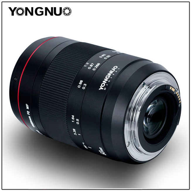 YONGNUO Macro Lens YN60mm F2 MF  for 700D 70D 650D 750D 1200D 6D mark II 5D mark IV Canon DSLR Camera