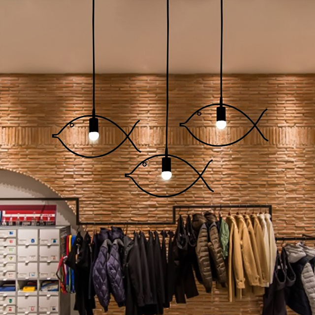 creative home lighting. modern design led home lighting single3 heads fish shape dinning hanging lamp creative a