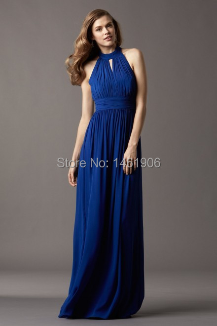 Online Shop RY0202 New Sapphire Blue Four Kinds Of Style Chiffon ...