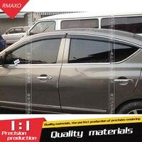 Für Nissan Sunny Versa Kunststoff Fenster Visor Vent Shades Sonne Regen Deflektor Schutz Für Sunny Auto Zubehör 4 teile/satz 2011  2016-in Markisen & Schutzhütten aus Kraftfahrzeuge und Motorräder bei
