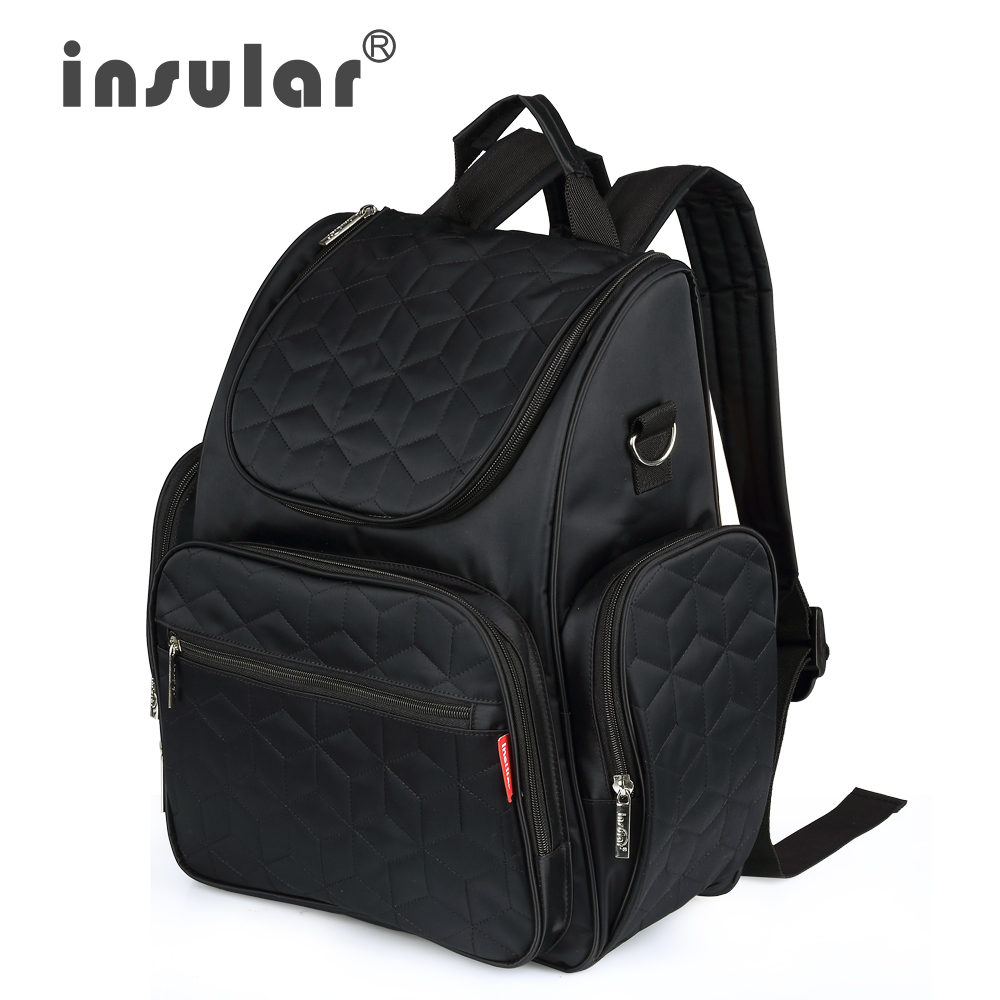 Insular Elegant Baby Diaper Backpacks Nappy Bags Multifunctional Changing Bags For Mommy