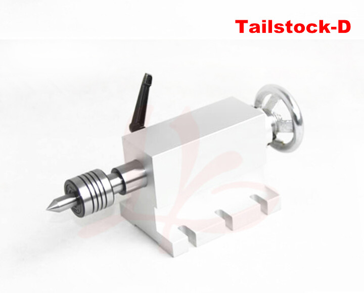 CNC Tailstock for Rotary Axis, A Axis, 4th Axis, CNC Router Engraver Milling Machine cnc 5 axis a aixs rotary axis t chuck type for cnc router cnc milling machine