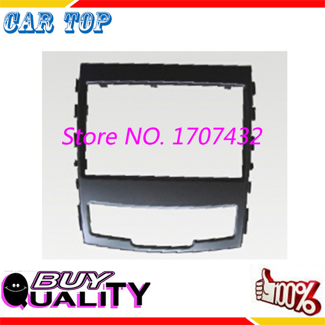 Top Qualidade DVD 2DIN áudio universal front surround painel quadro fascia para SSANG YONG Actyon, Korando 2010-2013 CD painel quadro