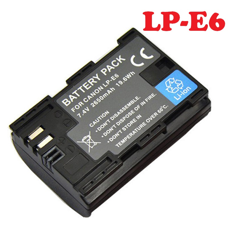 Lp-E6 Battery DSLR Mark-Ii LPE6 Canon Rechargeable Camera For EOS 5D 2-iii/3/6d/.. Lithium