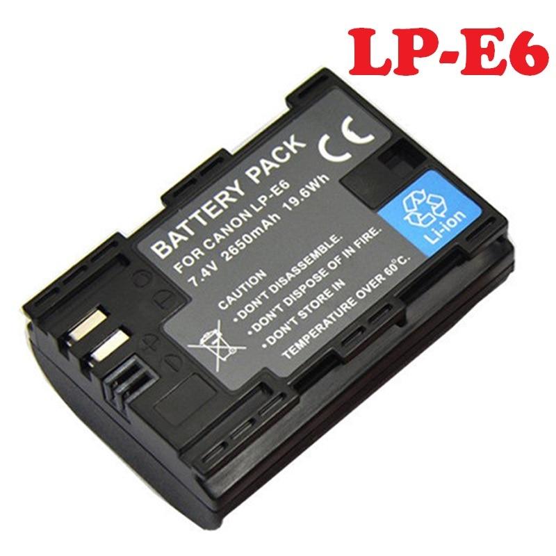 LP-E6 batería LPE6 para Canon EOS 5D Mark II 2 III 3 6D 7D 60D 60Da 70D 80D DSLR EOS 5DS cámara Digital recargable de litio de nuevo