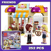 252pcs Bela 10165 Girls Friends Heartlake Ice Cream Shop Downtown Bakery DIY 3D Blocks Toy Gift Compatible With Lego