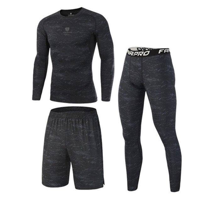 Compression Tracksuits Running Set Men's Sport Suits  4