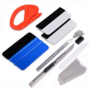 EHDIS Car Window Tint Tool Vinyl Car Wrap Sticker Cutter Knife Carbon Foil Film Wrapping Squeegee Scraper Set Car Tinting Tool