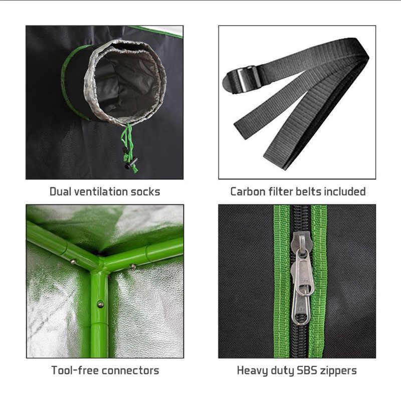 Растительный тент 600D растительный тент Крытый Grow box 60*60*140 см помещение для роста гидропоники теплицы растительный осветительный тент