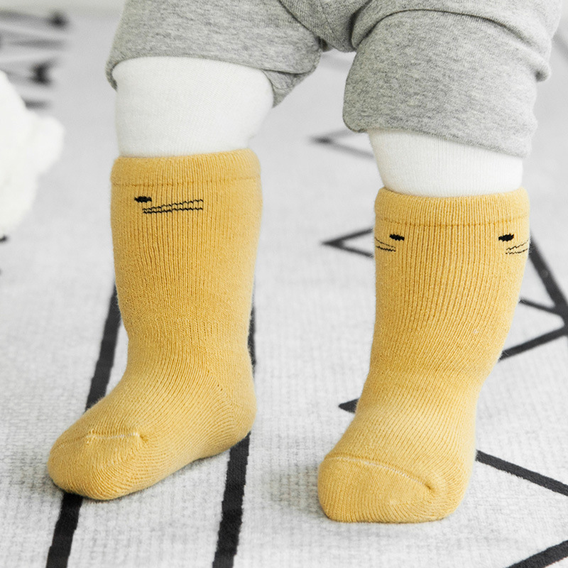 0 3Year Baby Socks Newborn 3 Pairs Lot Baby Socks Calcetines Baby Boy Socks Newborn Winter Cotton Terry Girl Warm Meias Bebe in Foot Socks from Mother Kids