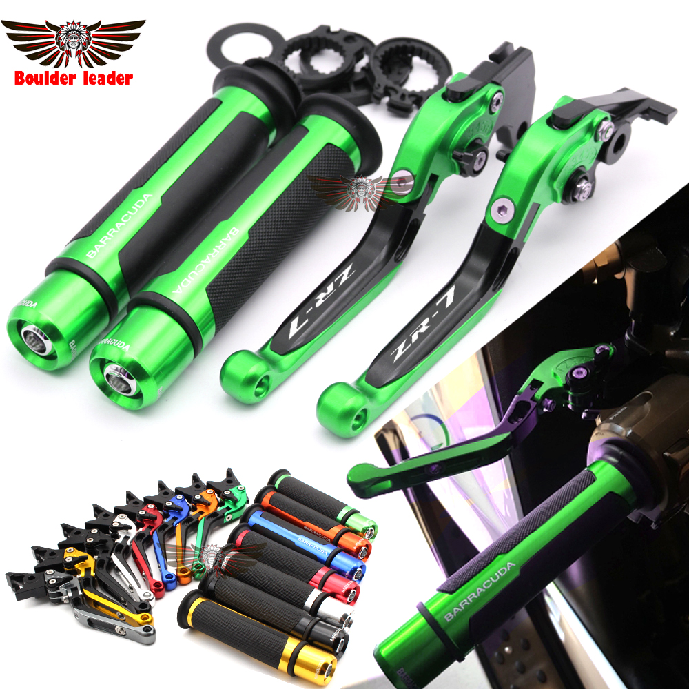 For Kawasaki ZR-7/S ZR7 ZR7S 1999-2003 2000 2001 2002 Motorcycle Adjustable Folding Brake Clutch Levers Handlebar Hand Grips cnc aluminum motorcycle brake clutch levers for ducati 996 998 b s r 1999 2003 748 750ss 1999 2002 mts1000sds ds 2004 2006