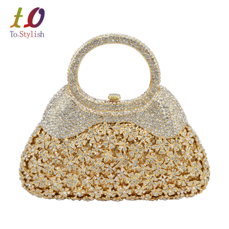 Stylish Gold Evening Bag Luxury Crystal Women Clutch Bag with Handle formal Rhinestone banquet bag with chain 88343Stylish Gold Evening Bag Luxury Crystal Women Clutch Bag with Handle formal Rhinestone banquet bag with chain 88343