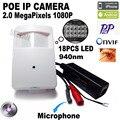 1080 P poe mini cámara ip hd cámara de visión nocturna 940nm Pir motion detector pir estilo kamera ip cam oculta pir cámara ip xmeye