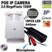 1080P poe mini ip camera hd night vision camera 940nm Pir Motion Detector Kamera Pir Style Ip Cam Covert PIR IP Camera  xmeye