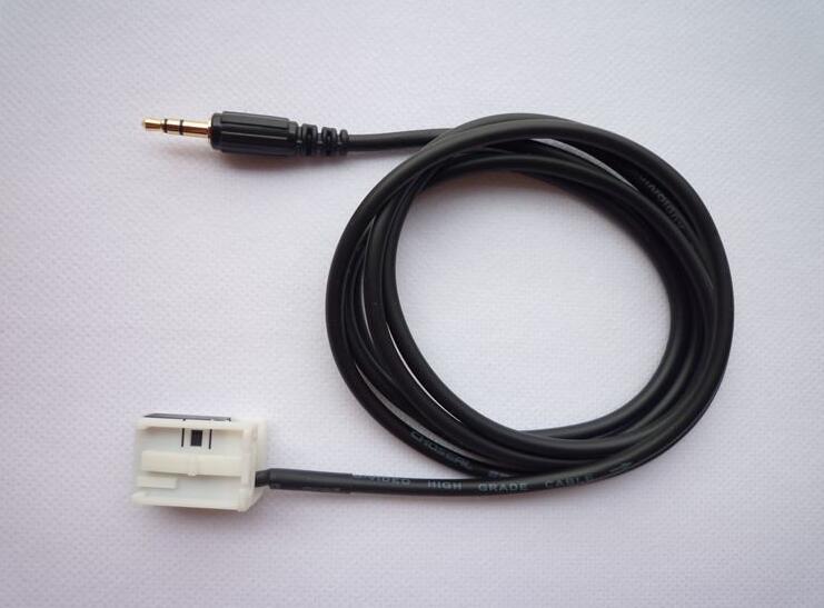Cable AUX para Coche Mercedes Benz W203 Clase C Conector Jack Macho 3,5 mm