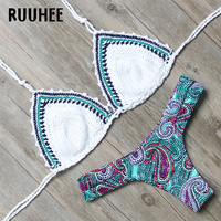 RUUHEE Bikini Swimwear Women Swimsuit 2017 Brand Sexy Crochet Bikini Set Brazilian Bathing Suit Beachwear Maillot