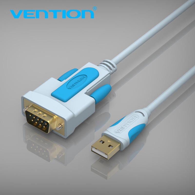 Vention New USB 2.0 to RS232 Serial Cable 3m 2m 1.5m 1m 9Pin DB9 Cable USB Adapter Support for XP WIN7 WIN8 MAC VISTA USB RS232 hl 340 usb to rs232 serial port adapter cable green silver 80cm