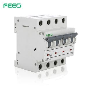 Миниатюрный автоматический выключатель FEEO, миниатюрный выключатель переменного тока 4P 400 В 6A 10A 16A 20A 25A 32A 40A 50A 63A MCB