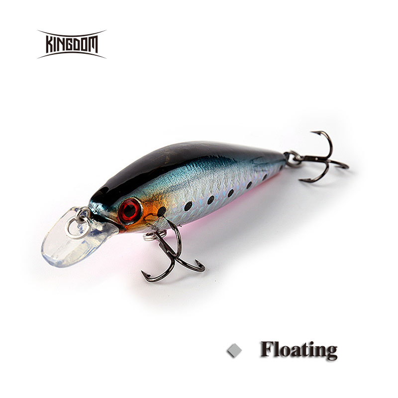 Kingdom floating minnow fishing lures wobbler artifical lures 75mm 10.5g eight color available model 5210 kingdom fishing lures floating minnow 90mm 9g fishing tackle wobblers six color available model 5339