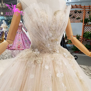 Image 4 - AIJINGYU engagement The Bride Dresses Gothic Wedding Korean Store Real Photo Belarus For Sale Gown Outlet White New Gown