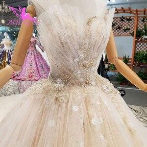 Image 4 - AIJINGYU אירוסין הכלה שמלות גותי חתונה קוריאני חנות אמיתי תמונה בלארוס למכירה שמלת Outlet לבן חדש שמלה