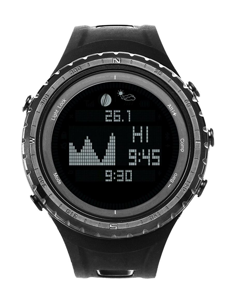 Relojes digitales impermeables SUNROAD para hombre con reloj de pulsera de escalada podómetro termómetro de fase luna-in Relojes deportivos from Relojes de pulsera    1