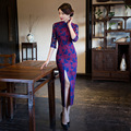 Autumn Winter New Arrival Elegant Lace Long Cheongsam Fashion Chinese Style Women's Dress Elegant Qipao Vestidos Size M-XXXL