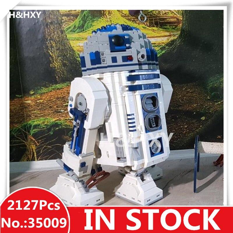 En stock H & HXY 35009 2127 pièces Le R2-D2 Robot LELE Star Modèle de Construction Kits guerres des Blocs Briques Jouets De Noël pour les Enfants 10225