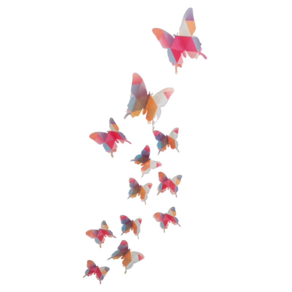 aliexpress com buy 12pcs 3d butterflies wall sticker kids u0027 room