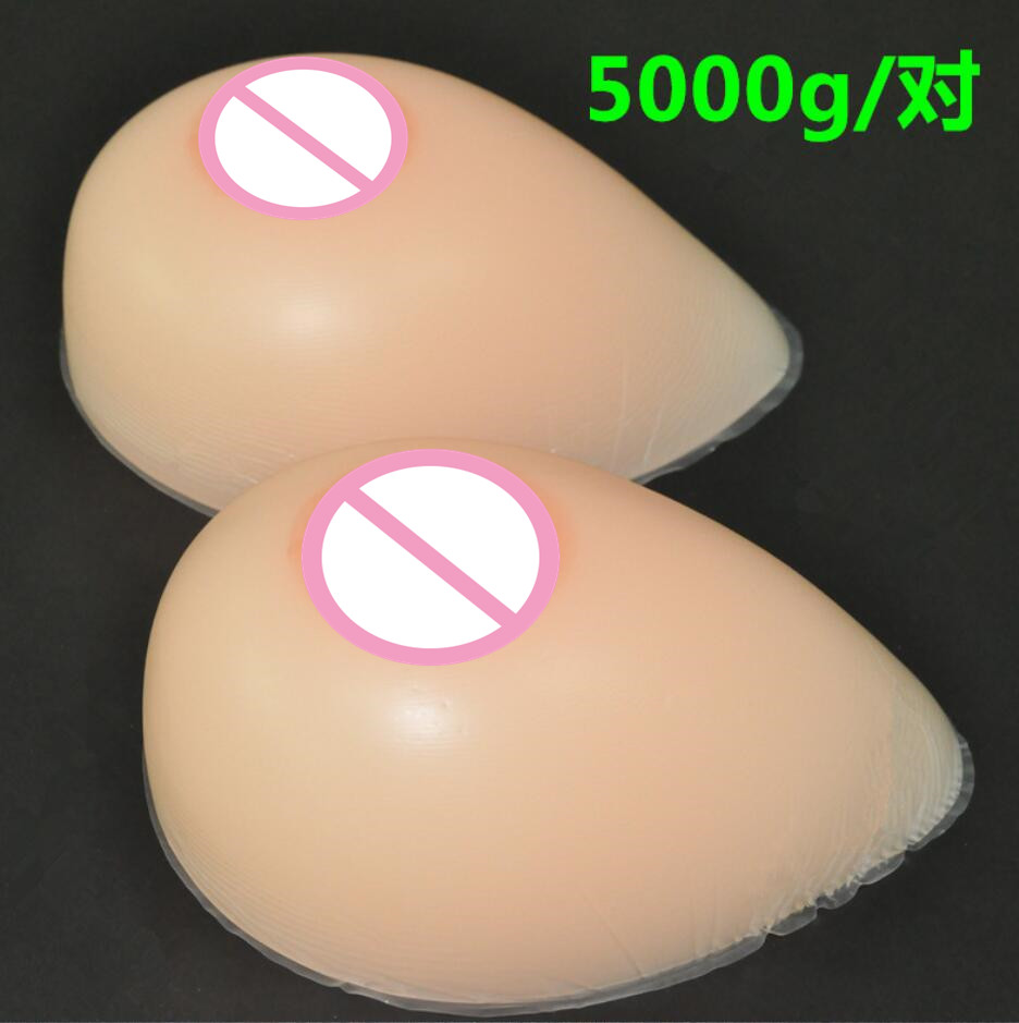 5000 g/pair I/J  Silicone Breast forms Mastectomy Artificial Silicone Fake Breast For Crossdressers And Transvestites