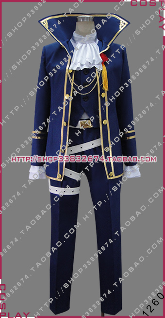 Vocaloid Project F kaito Requiem Halloween Uniform Outfit Cosplay Costume S002