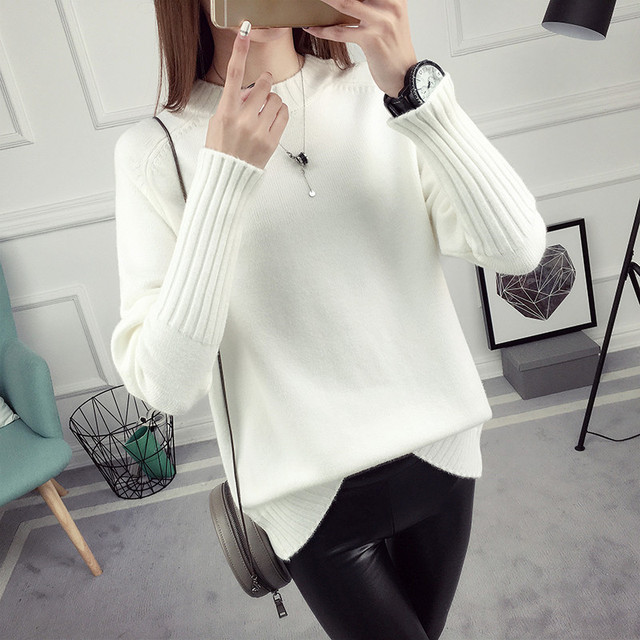 6123f69e06 Women O Neck Nice Winter Sweater Women Long Sleeve Tricot Women Sweaters  And Pullovers Female Jumper