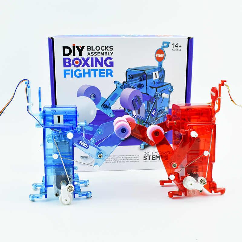 เด็กสนุกเกม DIY Versus นักมวย Versus หุ่นยนต์ DIY ของเล่นมวยหุ่นยนต์ต่อสู้แต่ละงานอดิเรกอื่นๆของขวัญเด็กของเล่นเด็ก