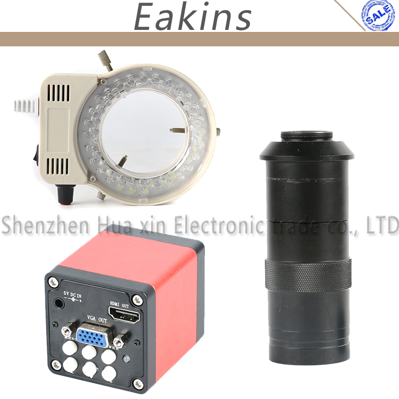 13MP 1 3 CMOS Industry microscope Camera HDMI VGA outputs 100X Adjustable Zoom C mount Lens