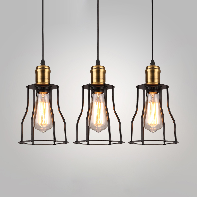 Loft Industrial Pendant Lights American Vintage Bar/Restaurant Lamps Black E27 110V/220V Antique Edison Decoration Lighting loft antique ceiling vintage pendant lights industrial home decoration lighting with e27 edison bulb for dinning room restaurant