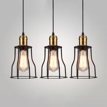 Loft Industrial Pendant Lights American Vintage Bar/Restaurant Lamps Black E27 110V/220V Antique Edison Decoration Lighting