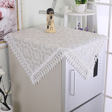 Home Decorate Table Cloth Art White Cover Lace Tablecloth Tea Coffee Table Cloth TV Microwave Oven Refrigerator Dust-free Towels