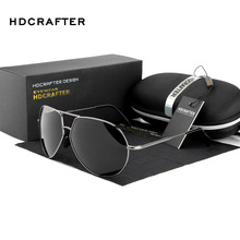 HDCRAFTER Polarized 3025 Aviation Sunglasses Men Aviador Sun Glasses Man Retro Polaroid Oversize Eyewear with Case Oculos