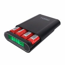 TOMO T4 Universal Power Bank 18650 Li-ion Battery Charger DIY Dual USB Intelligent Mobile PowerBank Box Case without battery
